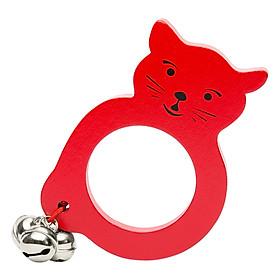 Đồ Chơi Gỗ Lục Lạc Tottosi Hình Mèo 201007