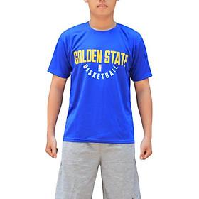 Áo thun bóng rổ NBA Golden State Warriors chất vải mè Thái thoáng mát