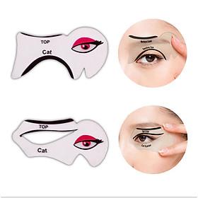 Sét 2 khuôn dụng cụ kẻ vẽ mắt mèo tiện lợi KM02