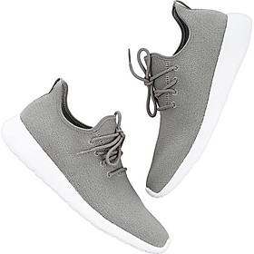 Beijing Tokyo made casual shoes men's lace fly-woven sneakers men's trot comfortable breathable Qingyan gray 42