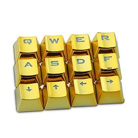 Mechanical Keyboard Keycap Durable Plating Plating 12Pcs