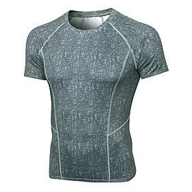 Men Sport Shirts Short Sleeved T-shirt O Neck Quick-Dry Performance Athletic Gym Running Workout Training Tees Casual