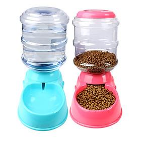 Bộ Khay ăn và khay uống cho Pet (Chó, mèo) (Bán tự động ) MFD-01, Máng ăn, bát ăn uống cho pet - Màu ngẫu nhiên