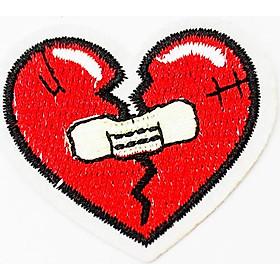 Trái tim đỏ dán băng keo cá nhân - Patch ủi sticker vải