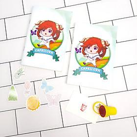 Bộ Sưu Tập Cá Tính Cung Hoàng Đạo Gồm 2 Sổ Tay Và 1 Con Dấu Tặng Kèm 6 Sticker Mini Mẫu Ngẫu Nhiên - Ma Kết