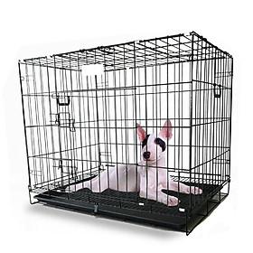 Lồng sơn tĩnh điện nan dày Màu đen Dành cho chó mèo