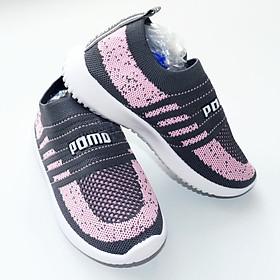 Giày thể thao bé gái - 3 tuổi đến 10 tuổi - Màu Hồng Xám