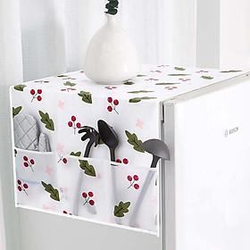 Tấm phủ tủ lạnh PEVA chống thấm, đặc biệt tấm phủ tủ lạnh có nhiều ngăn vô cùng tiện lợi để chứa đồ dùng cần thiết cho gia đình