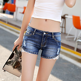 2020 spring and summer denim shorts women are thin Korean version of the slim waist stretch hot pants plus size student pencil pants