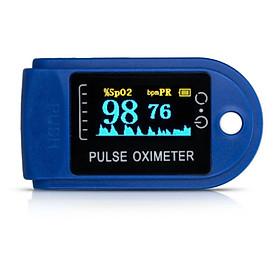 Máy đo huyết áp kẹp ngón tay + spo2 nhịp tim - Máy đo nồng độ oxy trong máu cầm tay cho kết quả đo nhanh chính xác