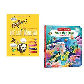 Combo 2 cuốn Hỏi đáp cùng em - Thế giới động vật + Sách chuyển động - First explorers - Sea creatures - Sinh vật biển