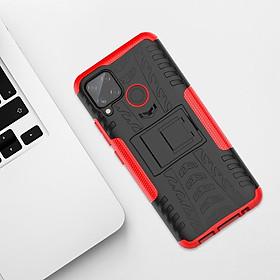 Ốp Lưng Bảo Vệ Có Giá Đỡ Cho Oppo F17 Realme C11 C15 7 Pro 7
