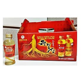 Thực phẩm bổ sung-Nước uống ngâm củ sâm Hàn Quốc 10 chai x 120ml