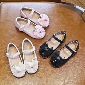 Giày búp bê phối nơ cho bé gái b300