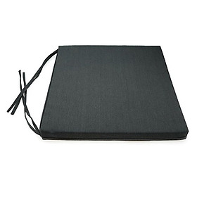 Nệm Ngồi Soft Decor 45035 Mickey Canvas Square Seat Pad (45 x 45 x 3.5 cm) - Xám Đen