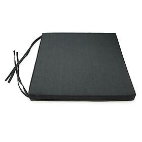 Nệm Ngồi Soft Decor 40035 Mickey Canvas Square Seat Pad (40 x 40 x 3.5 cm) - Xám Đen