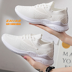 Giày thể thao sneaker nữ màu trắng đế êm nhẹ thoáng khí thương hiệu ZAVAS - S393 - Hàng chính hãng