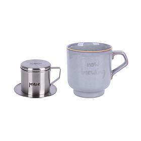 Bộ phin café và cốc sứ Sa Maison