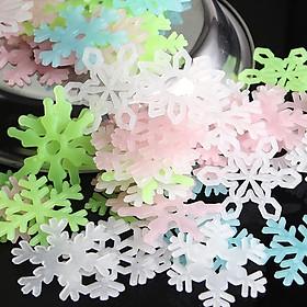 50 bông tuyết dán tường dạ quang trang trí