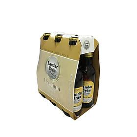 Lốc 6 Chai bia Lander Brau Premium 4,9% Vol - Chai 330ml