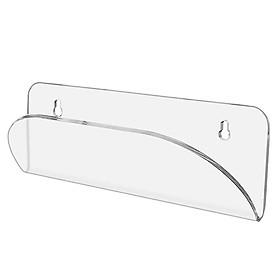 Clear Longboard Skateboard Wall Hanging Rack V-shaped Display Stand Storage