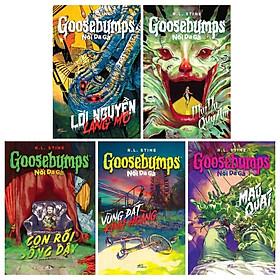 Combo Goosebumps: Nổi Da Gà: Con Rối Sống Dậy + Lời Nguyền Lăng Mộ + Mặt Nạ Quỷ Ám + Máu Quái + Vùng Đất Kinh Hoàng (Bộ 5 Cuốn)