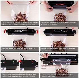 GD369 MÁy hút chân không , hàn miệng túi 2in1 tiện lợi ( tặng kèm 10 túi ) (gia dụng thông minh)
