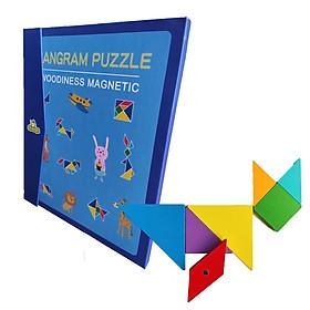 Đồ Chơi Xếp Hình Trí Uẩn Tangram 7 Mảnh 8 Mảnh 9 Mảnh Có Nam Châm Lắp Ráp Đồ Chơi Gỗ Thông Minh Rèn Luyện Trí Tưởng Tượng Và Sáng Tạo Hàng Trăm Hình Khác Nhau