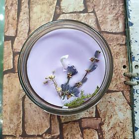 Nến thơm tinh dầu Lavender (Oải Hương) 100g - Giúp thơm phòng, thư giãn giảm stress với thành phần hoàn toàn tự nhiên