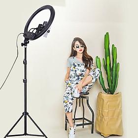 Đèn Livestream Size 54cm (Kèm Cả Chân Đỡ & Kẹp Điện Thoại)