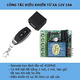 Công tắc điều khiển từ xa 12V DC 10A- mạch công tắc điều khiển từ xa dùng điện 1 chiều 12V DC