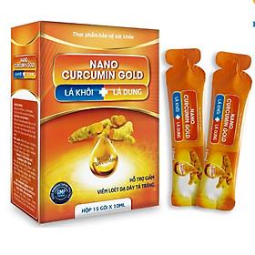Thực Phẩm Chức Năng Hỗ Trợ Giảm Viêm Loét Dạ Dày Tá Tràng NANO CURCUMIN GOLD (Hộp 15 Gói x 10ml)