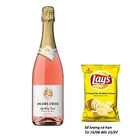 Rượu vang nổ hồng sparkling Jacob's Creek  Rose 750ml 11.6% - 13.6% - Không Hộp