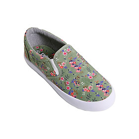 Giày Slip On Nữ Urban UL1702 Hoa Nhí - Xanh