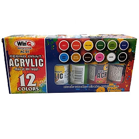 Màu Acrylic WinQ AC-01 - 12 Màu (30 ml )