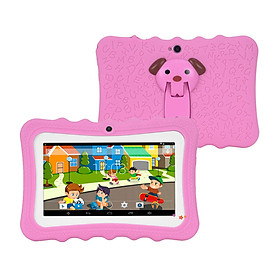 7'' Kids Tablet-PC 1G+16G Quad-Core Wi-Fi Tablet-PC Pad with Shock-Proof Silicone Protective Case for Children