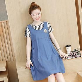 Đầm bầu, váy bầu sau sinh cho con bú 100% cotton (ảnh-thật) hàng Quảng Châu