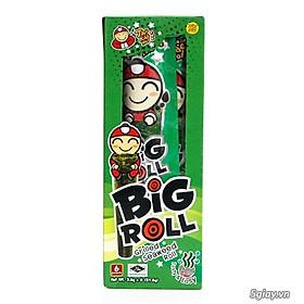 Hộp 6 gói  Snack rong biển Tao Kae Noi Big Roll vị Truyền thống (3,6g)