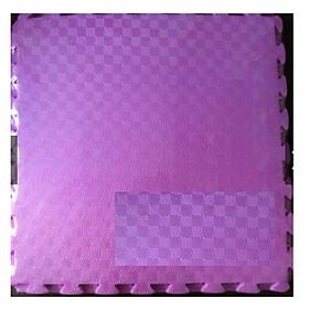 Thảm Xốp Cho Bé Trơn 60cmx60cm Vân Ô Vuông màu tím