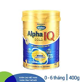 Sữa Bột Vinamilk Dielac Alpha Gold IQ Step 1 Hộp Thiếc (400g)