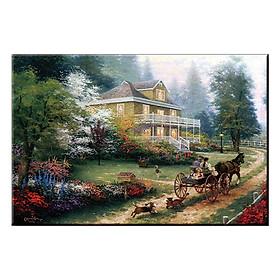 Hình đại diện sản phẩm Tranh Treo Tường KHUNG CẢNH NÊN THƠ HỮU TÌNH Q6D8 - 11 (40 x 60 cm) Thế Giới Tranh Đẹp