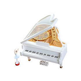 The Melody Für Elise Mechanical Music Box Piano Ballet Girl Toy 14.5 x 16 x 9 centim - Multicolour