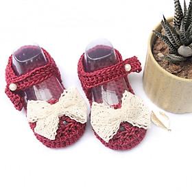 Giày dép bé gái - Xăng đan đỏ đô nơ