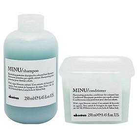 Cặp dầu gội xả Davines Minu dành cho tóc nhuộm Shampoo & Conditioner 250ml