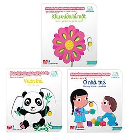 Combo Sách Chuyển Động - Song Ngữ Anh - Việt: Khu Vườn Bí Mật + Vườn Thú + Ở Nhà Trẻ