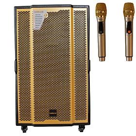 Loa Kéo Di Động Karaoke Bass 40 HATACHI HTC-15C (1500W) 4 Tấc - Chính Hãng