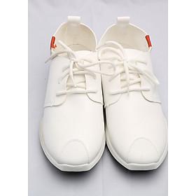 Hình đại diện sản phẩm Giày Da Dây Buộc Thời Trang + Tặng Thắt Lưng Da Thời Trang màu trắng