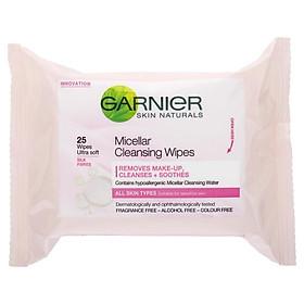 Garnier Micellar Cleansing Wipes 25