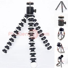 Bộ chân máy ảnh bạch tuộc lớn và đầu bi chân máy ảnh cao cấp toàn thân kim loại