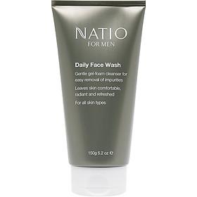 Gel Rửa Mặt Hàng Ngày Cho Nam Natio For Men Daily Face Wash 150g